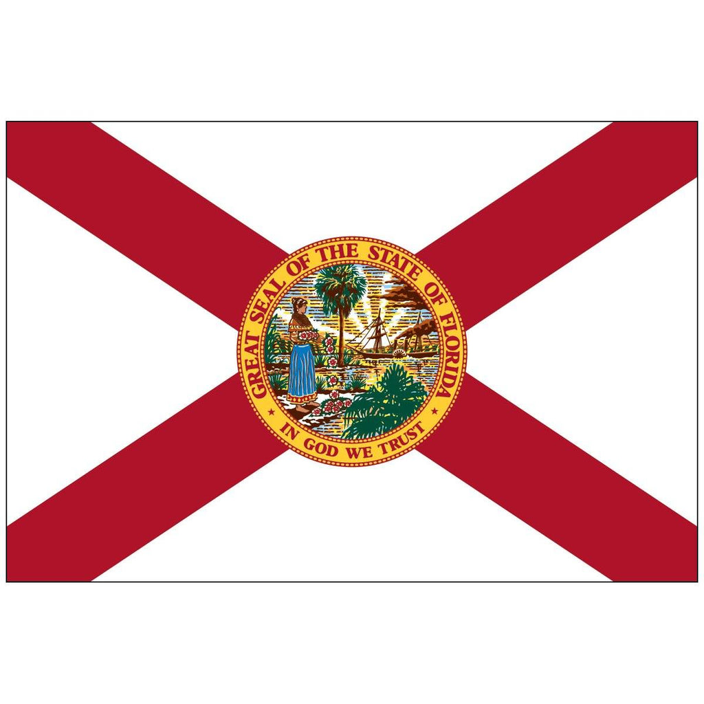 State of Florida Flag Rough Tex