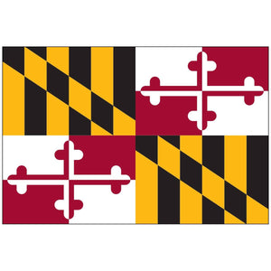 State of Maryland Flag 3x5 Economical