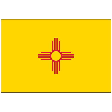State of New Mexico Flag 4 X 6 inch on stick