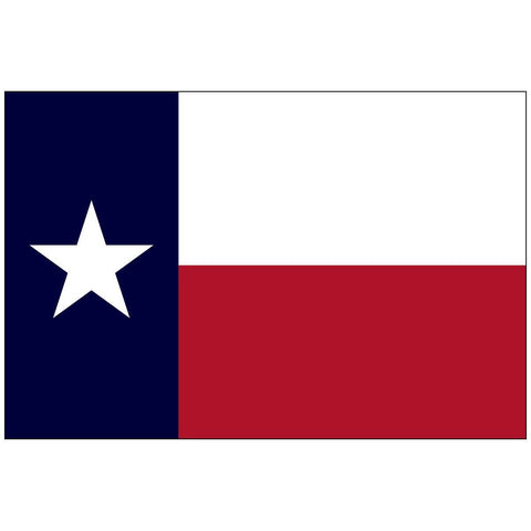 Texas Knitted Nylon 5 x 8 Flag