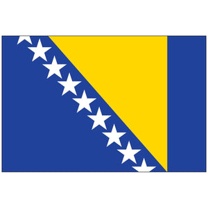 Bosnia & Herzegovina Flag Nylon Outdoor Made In Usa