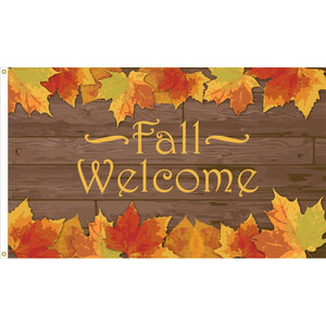 Welcome Fall Flag - Outdoor Commercial - 3 x 5 Nylon Dyed (USA Made)