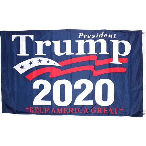 Image of 3X5 Ft Double Sided President Trump Keep America Great 2020 Flag Rough Tex