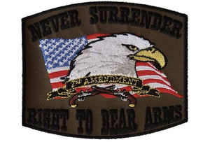 Never Surrender Right to Bear Arms 2nd Amendment Patch