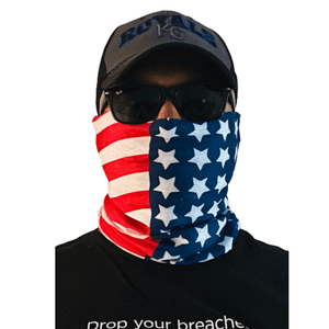 TrendsyShop MURICA Face Bandana Scarf American Flag (Red White & Blue)
