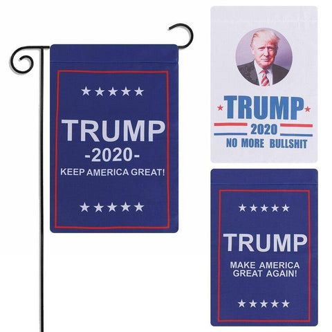 Image of 3 Styles 12X18 Inch Donald Trump Garden Flag Flags