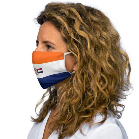 Old South Africa Flag Snug-Fit Polyester Face Mask