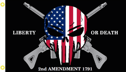 2nd Amendment Punisher Skull Flag - Made in USA