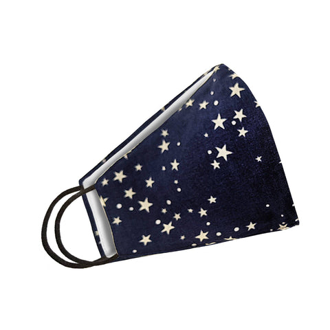 Image of Stars Denim Face Mask Womens Clothing
