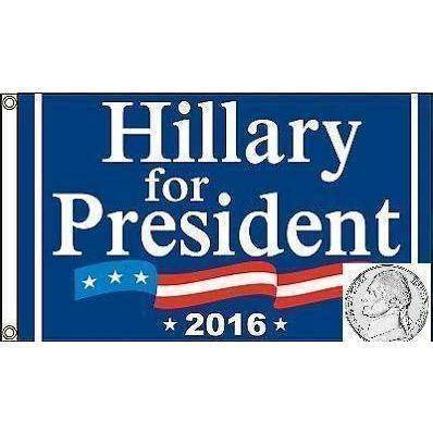 Hillary Clinton For President Flag 3 X 5 ft. Standard