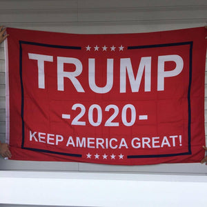 Trump 2020 Flag Red Keep America Great 4x6