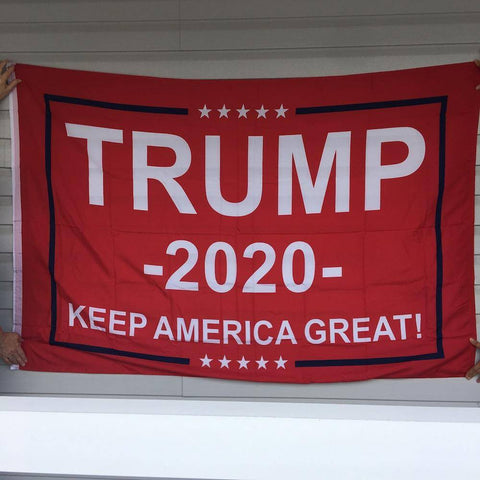 Image of Trump 2020 Flag Red Keep America Great 4x6 ft.