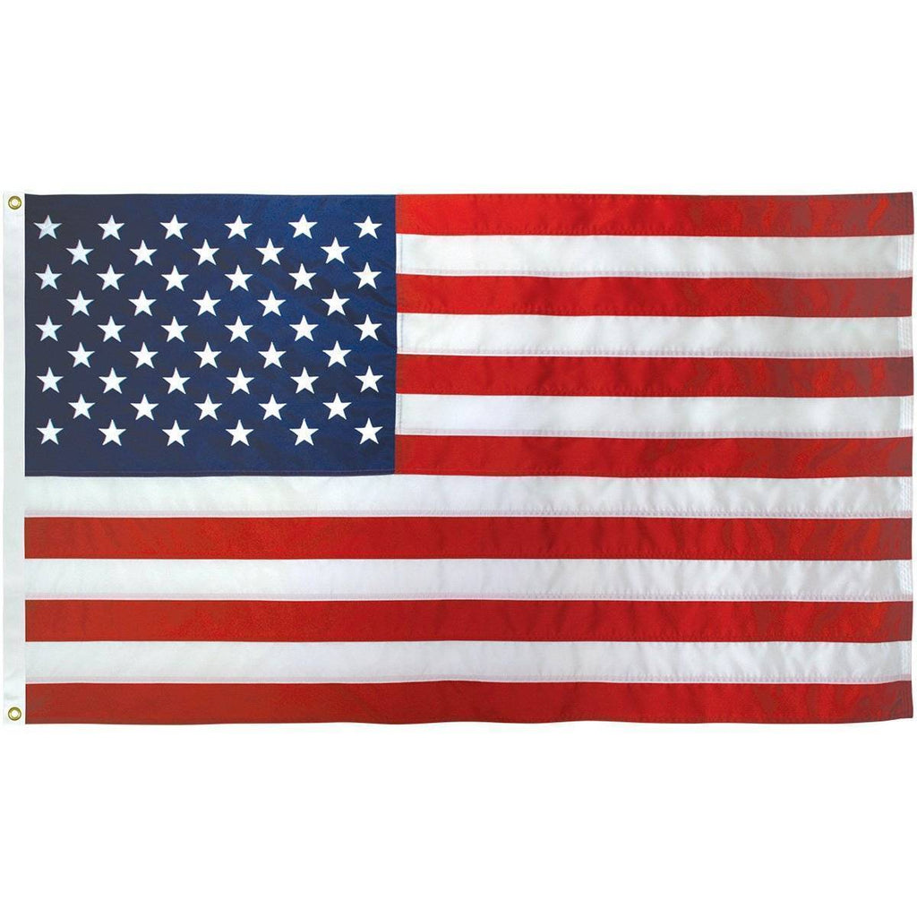 50 Star USA Cotton Embroidered Outdoor Flag 5 x 9 1/2 ft (USA Made)