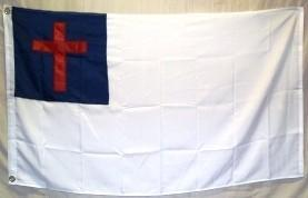 Christian Double Nylon Embroidered Flag 5 x 8 ft Jumbo