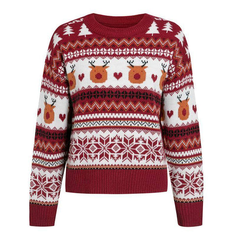 Christmas Causal red autumn winter christmas sweater