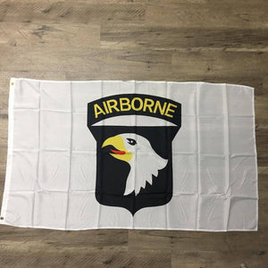 101st Airborne (White) Flag 3x5 ft. Standard