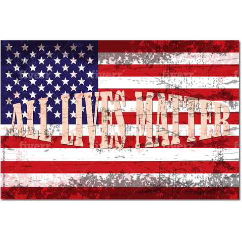Image of Usa All Lives Matter Flag - Outdoor Made In