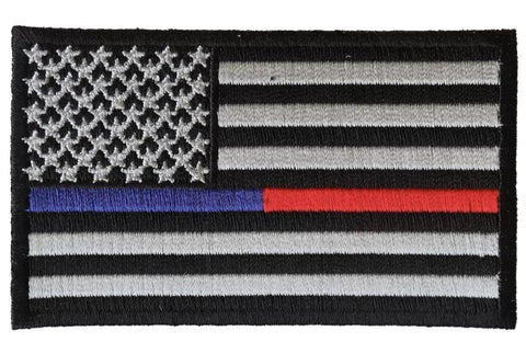 Thin Red and Blue Line American Flag Patch