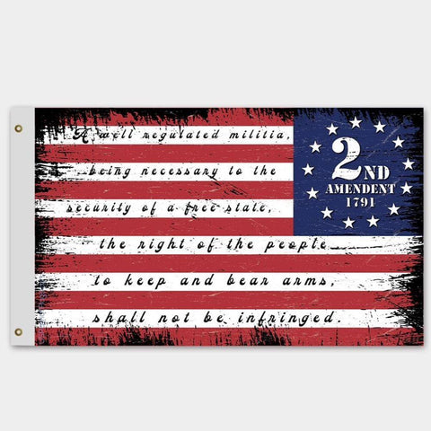 2nd Amendment Betsy Ross USA Flag - Made in USA