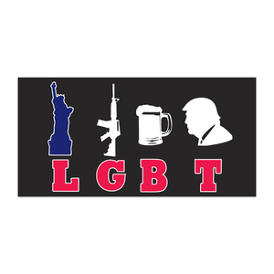Liberty Guns Beer Trump Flag - Made in USA