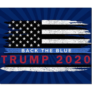 USA Trump Back the Blue Flag Outdoor Made in USA