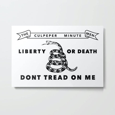 Image of Don't Tread On Me - White - Culpeper Minutemen 2 Ply Nylon Embroidered Flag 3x5 ft.