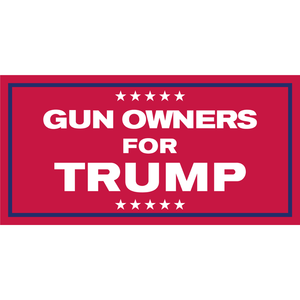 Gun Owners for Trump Flag - Made in USA