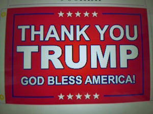 Thank You Trump God Bless America Flag - Made in USA