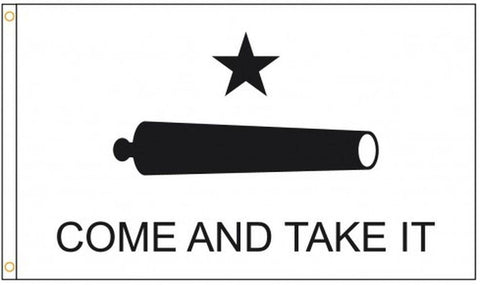 Gonzales Flag - Come and Take It Cannon - Nylon Embroidered 3 x 5 ft.