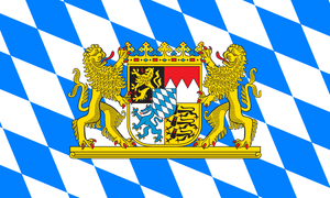 Bavaria With Crest Flag (German State Flag) 3 X 5 Ft. Standard