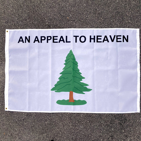 Washington's Cruiser Appeal To Heaven Pine Tree Cotton Flag 3x5 ft