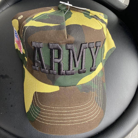 Image of Army Cap Camo with Army Letters