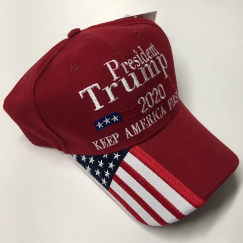 Image of President Trump 2020 Keep America First Cap - Hat - Red