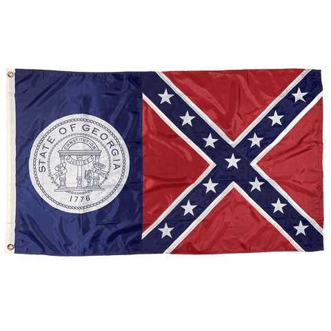 Image of Old Georgia (1956 - 2001) Flag Nylon Embroidered 3 x 5 ft.