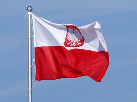 Image of Poland (Old) With Eagle Flag Standard 2X3 3X5