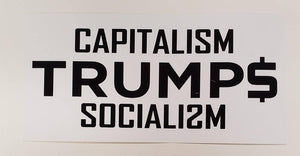 Capitalism Trumps Socialism Flag - Made in USA