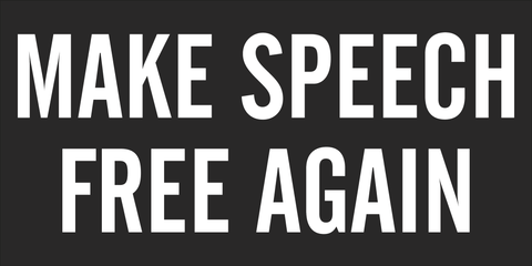 Make Speech Free Again - 1st Amendment Flag - Made in USA