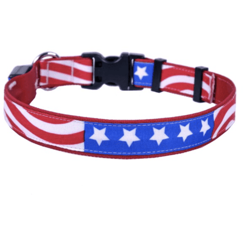 Image of Orion Americana Flag Led Dog Collar L Leashes Collars & Petwear
