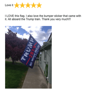 Trump No More Bullshit Double Sided 2020 Flag - Blue - Rough Tex