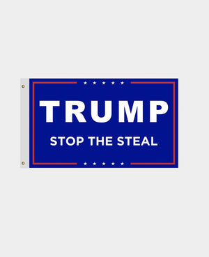 Trump Blue Flag Stop The Steal Made in USA