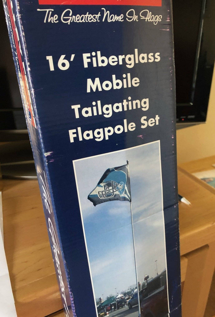Telescoping Flag Tailgating Pole Kit - 16 Ft Fiberglass Made In Usa Not Included