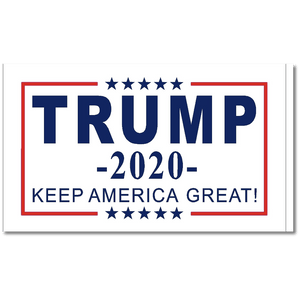 Trump 2020 Flag Keep America Great White Nylon Made in USA