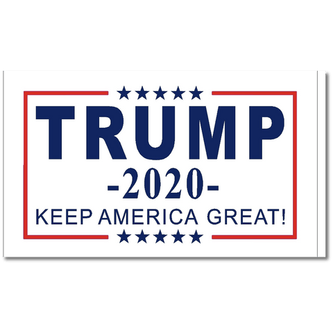 Trump 2020 Flag Keep America Great White Nylon Made In Usa 5X8 / Single Sided