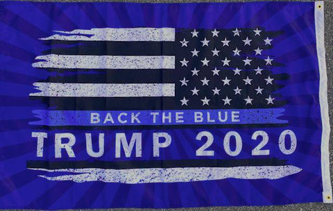 Image of USA Trump Back the Blue Flag Outdoor Made in USA