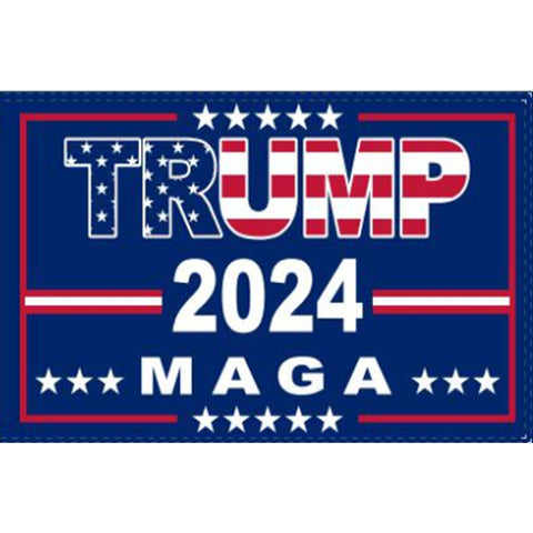 Trump 2024 Flag USA MAGA Red White & Blue - Rough Tex