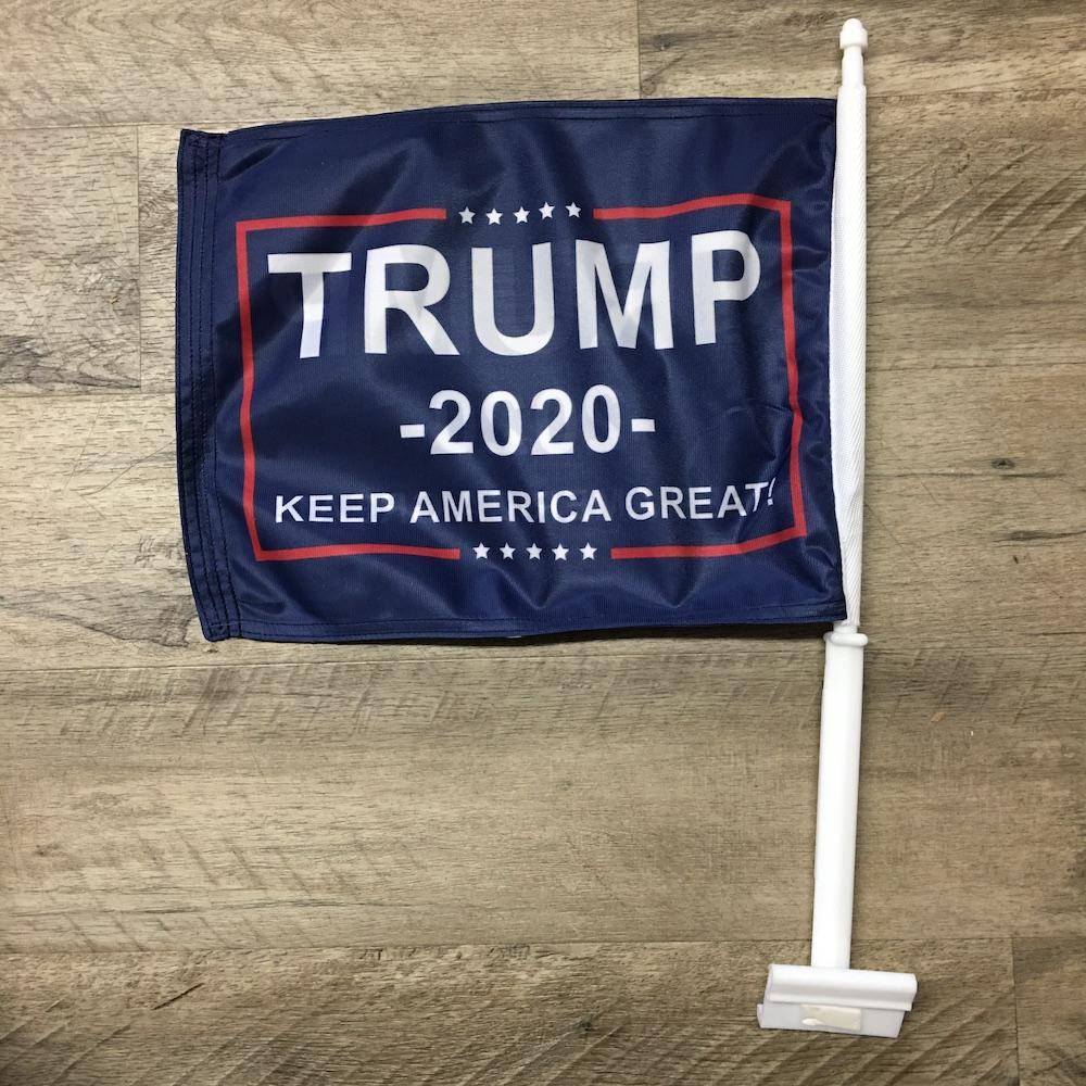 "Trump Keep America Great 12""x18"" Double Sided Car Flag Made in USA"