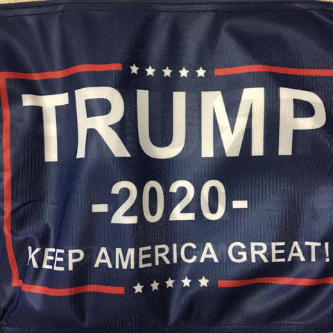 "Image of Trump Keep America Great 12""x18"" Double Sided Car Flag Made in USA"