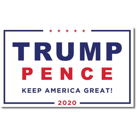 Trump Pence 2020 Flag Keep America Great White Outdoor Dacron Made In Usa Stadium