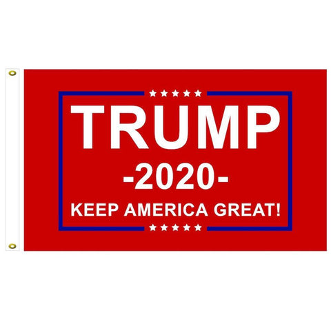Trump 2020 Flag Keep America Great Red 3X5 4X6 5X8 6X10 8X12 Dyed Nylon Made In Usa Stadium Standard