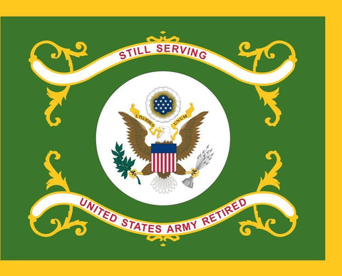 Image of U.S. Army Retired Flag 3x5 ft. Economical